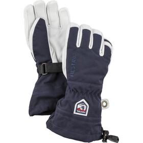Hestra Army Leather Heli Ski Guanti Bambino, blu/bianco